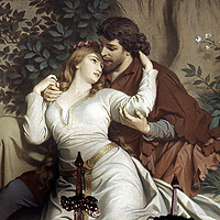 Picture: Mural depicting the saga of Tristan and Isolde