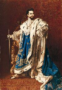Luis II, cuadro de Gabriel Schachinger