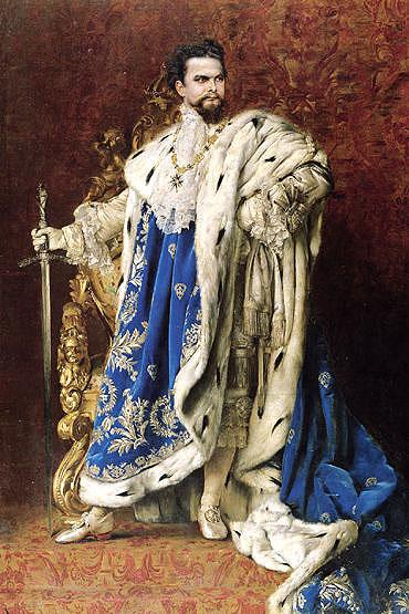 Louis II, peinture de Gabriel Schachinger, 1887