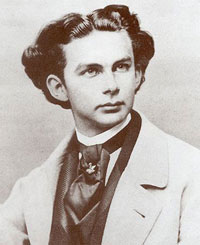 Photograph of Ludwig II by J. Albert, 1865